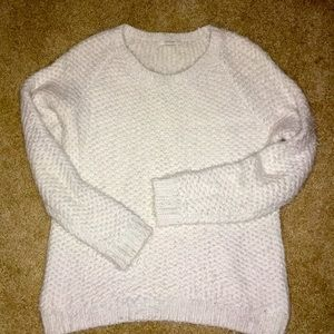 Piperlime White crew neck soft knitted sweater